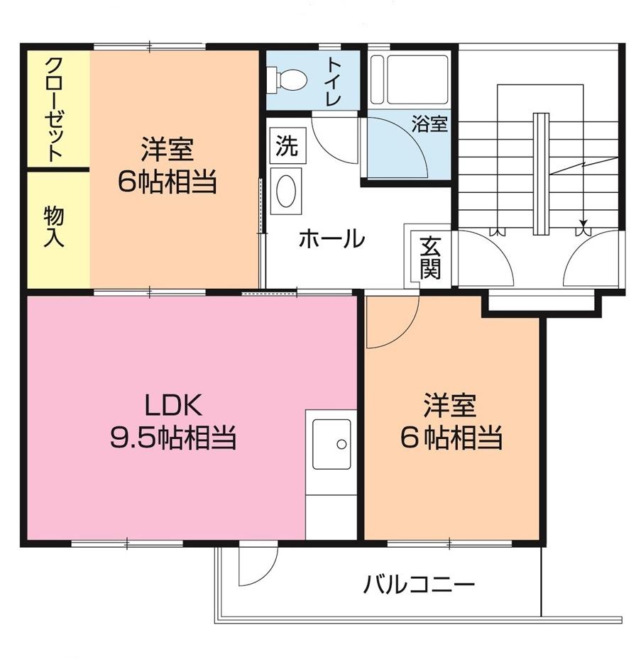 成田団地 2-303号室