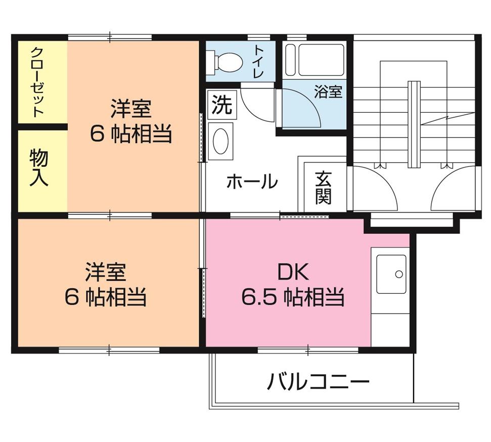 白旗台団地 2-205号室