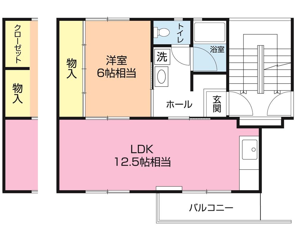白旗台団地 2-102号室